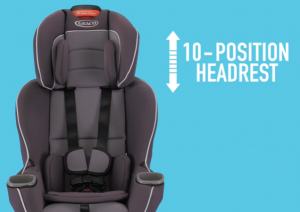 10-position headrest - no-rethread necessary